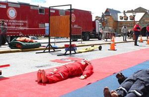 Los bomberos demostraron una vez más su habilidad y profesionalismo en Bariloche