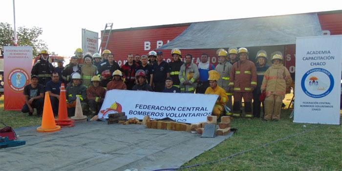 Bomberos de Chaco Se capacitan en Rescate Vehicular Liviano