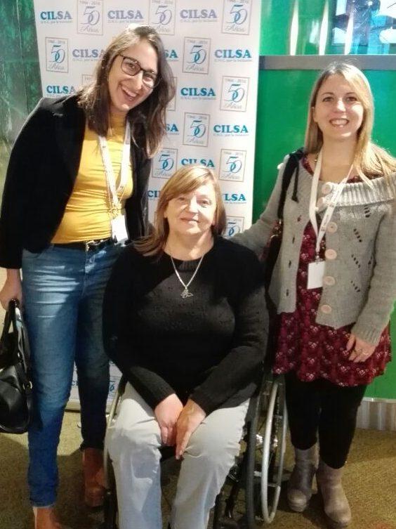 Junto a la Presidente de CILSA Silvia Carranza
