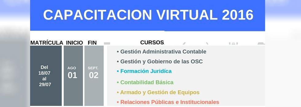 Última semana para inscribirse a los Cursos de Capacitación Virtual