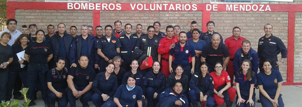 Bomberos voluntarios de Mendoza se capacitaron en Psicología de la Emergencia
