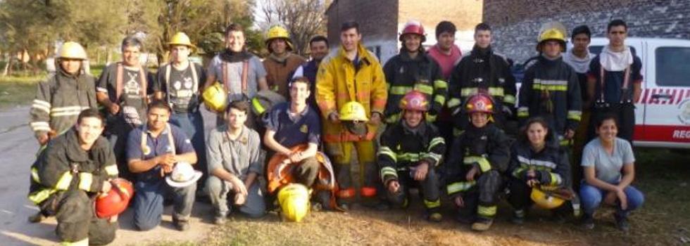 Bomberos Voluntarios de Chaco se capacitaron en Incendios Estructurales