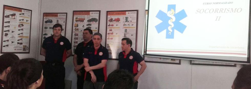 Capacitación presencial a los bomberos de la Federación Tierra del Fuego