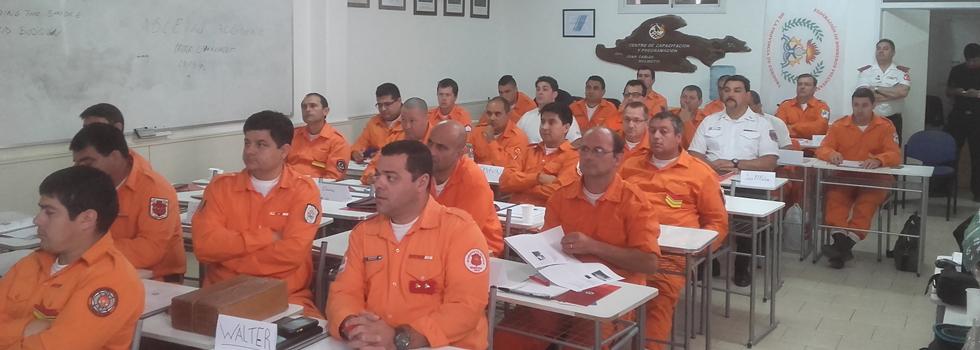 Capacitación del Departamento Seguridad del Bombero en Córdoba