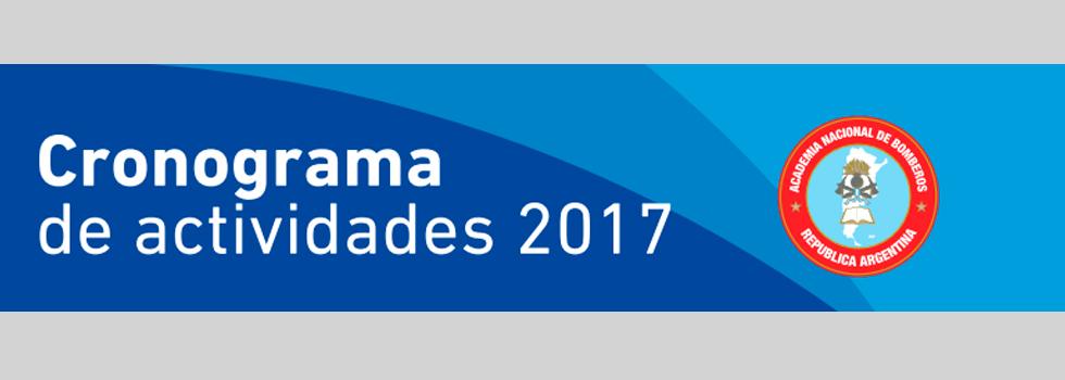CRONOGRAMA GENERAL DE ACTIVIDADES 2017