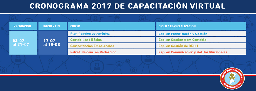 Anotate en los cursos de Capacitación Virtual
