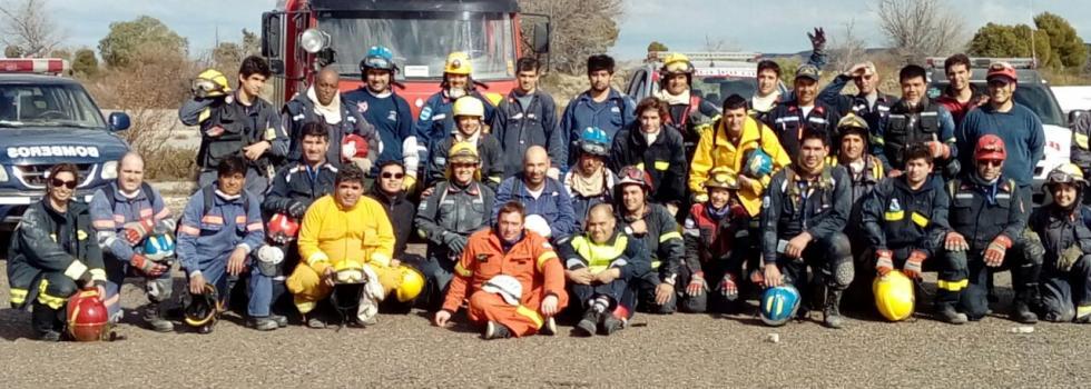 Capacitación de los bomberos de La Pampa en Estructuras Colapsadas