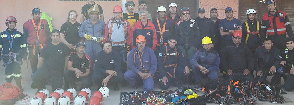 BomberosChaqueñosse capacitaron en Rescate con Cuerdas