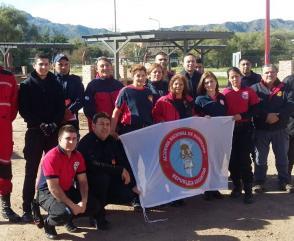 Capacitación del Departamento Seguridad del Bombero en San Luis