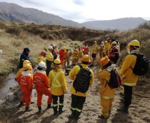 Bomberos Voluntarios de Tucumán se capacitaron en Incendios Forestales