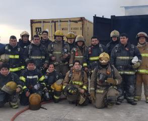 Capacitación del Departamento de Incendios Estructurales en Río Negro