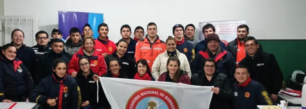 Bomberos de San Luis se capacitaron en Psicología de la Emergencia