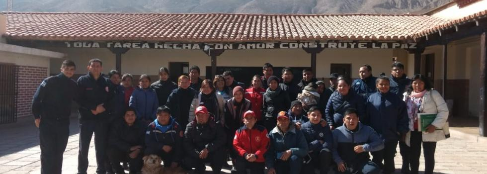 Bomberos de Jujuy se capacitaron en Seguridad del Bombero
