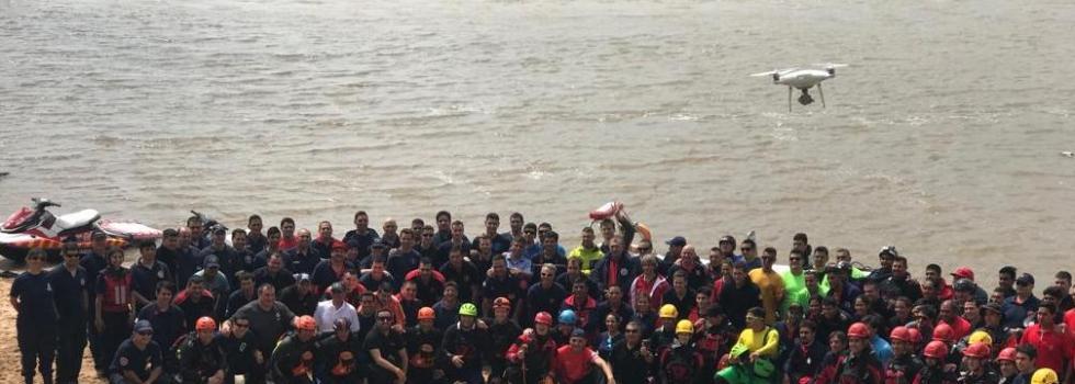 Jornadas Internacionales: más de 150 bomberos voluntarios se formaron en Rescate Acuático
