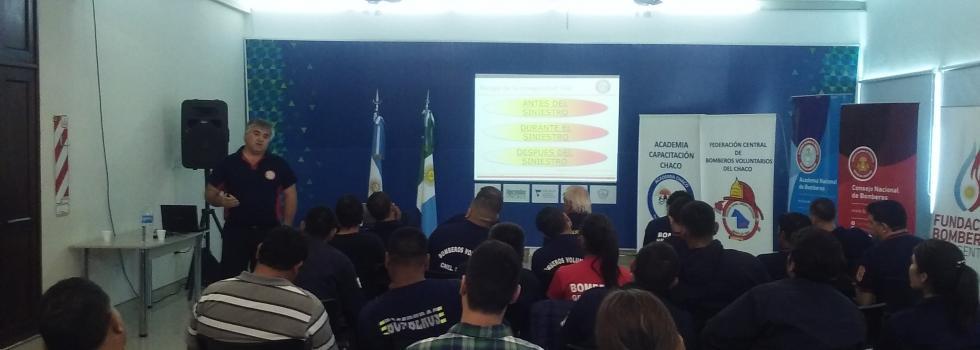 Curso de Seguridad del Bombero para dirigentes de la Federación Chaco