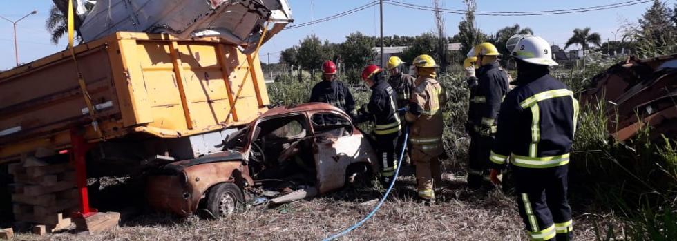 Capacitación del Departamento de Rescate Vehicular en Santa Fe