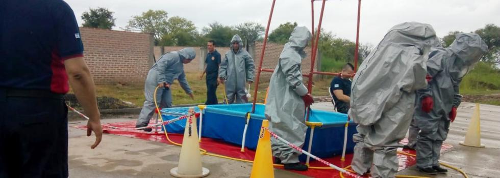Bomberos de Chaco se capacitaron en Materiales Peligrosos
