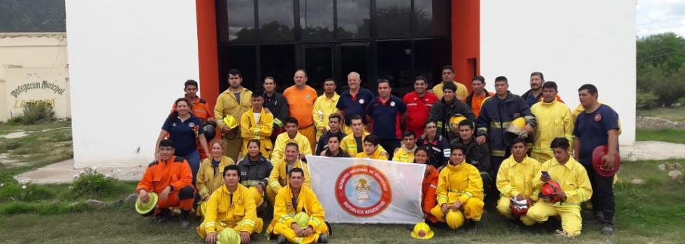Capacitación del Departamento de Incendios Forestales en Catamarca