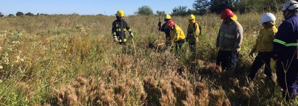 Bomberos de Santa Fe se capacitaron en Incendios Forestales