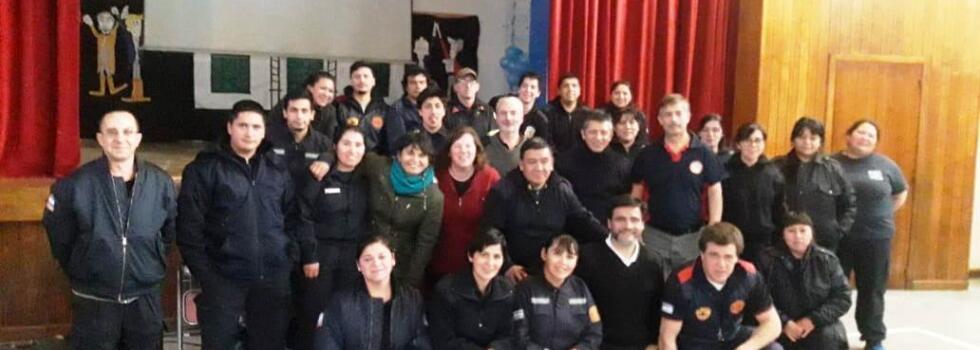Bomberos de Chubut se capacitan en Psicología de la Emergencia