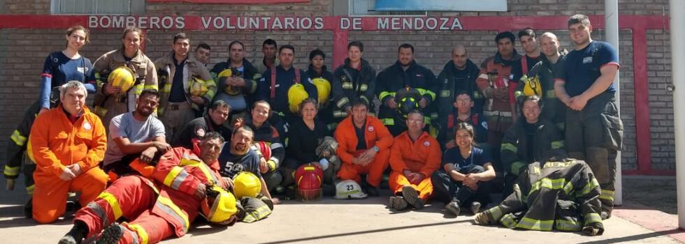 Los bomberos de Mendoza se capacitaron en Rescate Vehicular