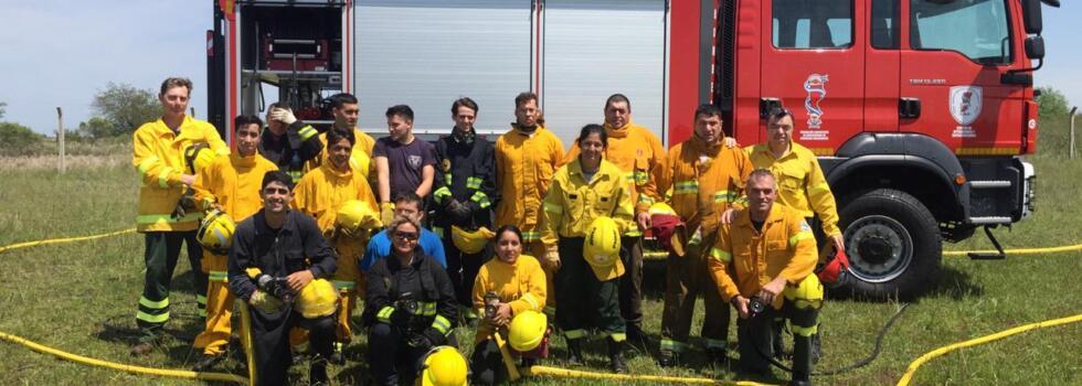 Incendios Forestales para los bomberos de Santa Fe