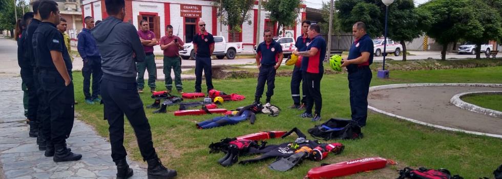 Capacitación de Rescate Acuático y Buceo en San Luis
